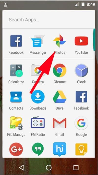 Open Google Photos App