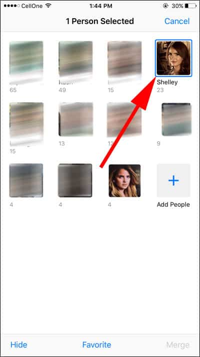 Select Person Face