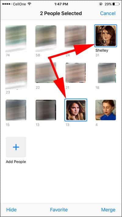 Select Photos to Merge