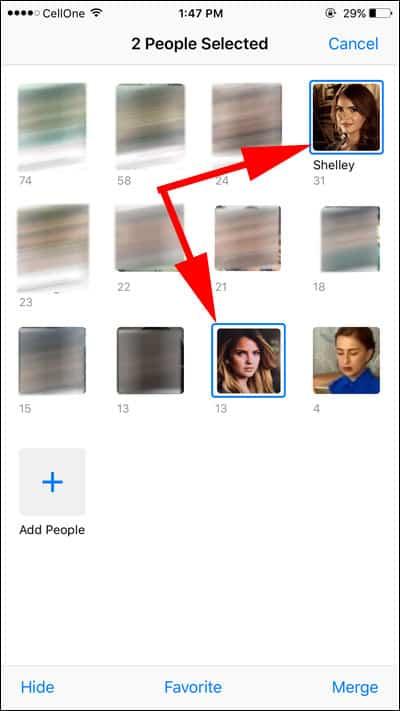 Select Photos to Merge