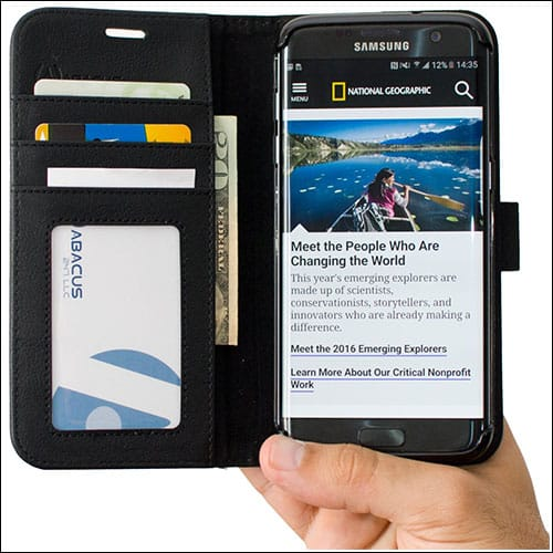 Abacus24-7 Samsung Galaxy S7 Edge Wallet Case