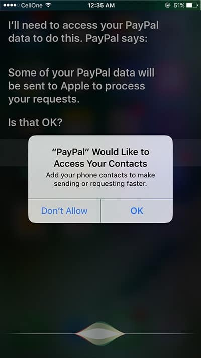 Allow Siri to Access Your Contacts