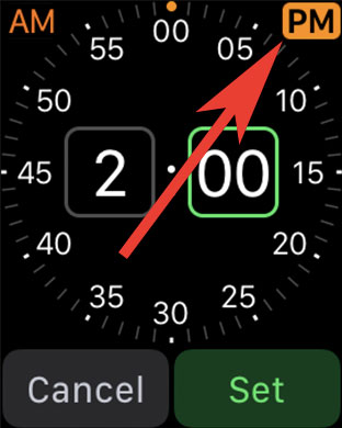 Choose AM OR PM to Set Alarm on Apple Watch