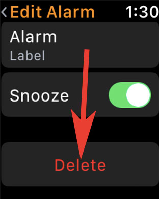 Delete Apple Watch Alarm