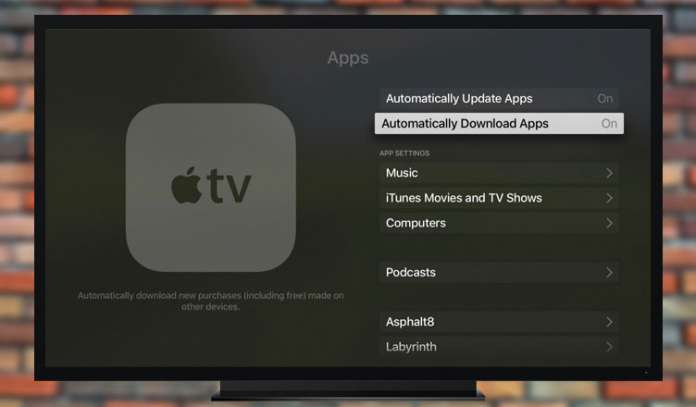 How to Enable Automatic App Downloads on Apple TV