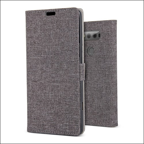 JGOO LG V20 Leather Wallet Case