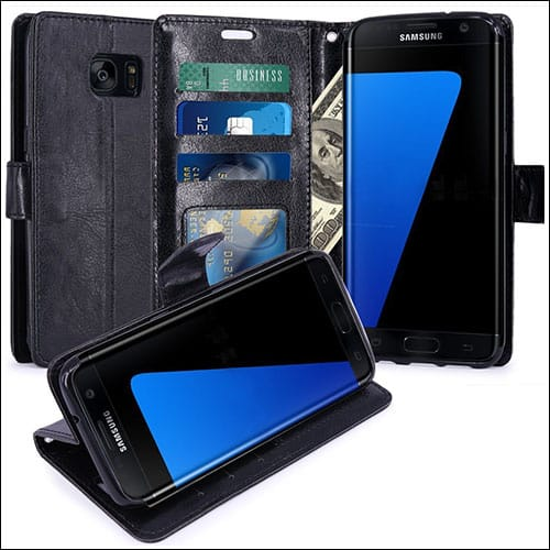 LK Samsung Galaxy S7 Edge Leather Wallet Case