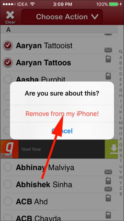 Remove from my iPhone!