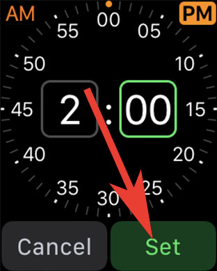 Set Alarms on Apple Watch