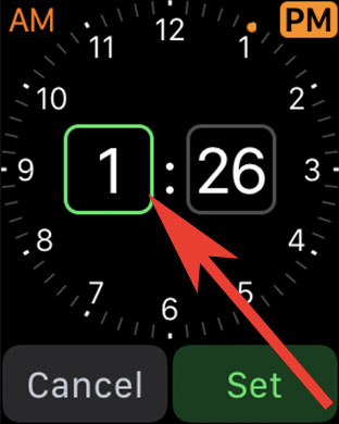 Tap on Hour to Set Alarm on Apple Watch
