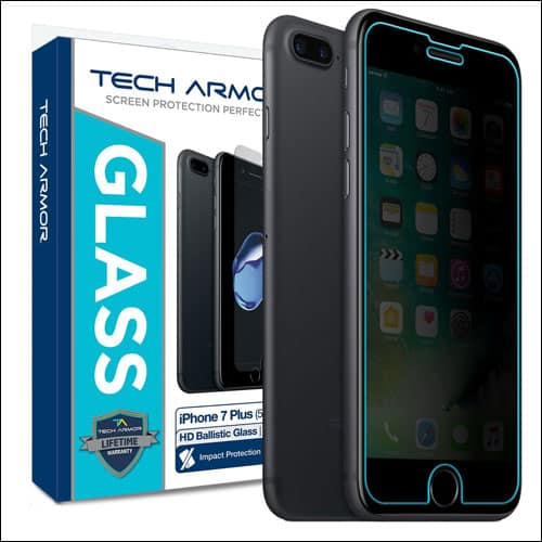 tech armor iphone 7 plus privacy screen protector