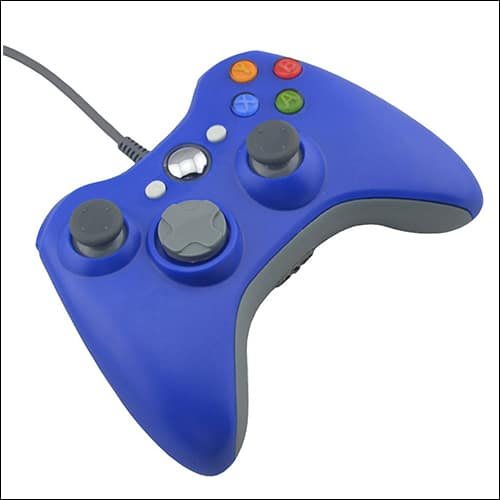 Blue Wired USB Pad Joypad Game Controller For MICROSOFT Xbox 360 PC Windows