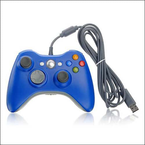 DuaFire Blue Wired USB Game Pad Controller For Xbox 360