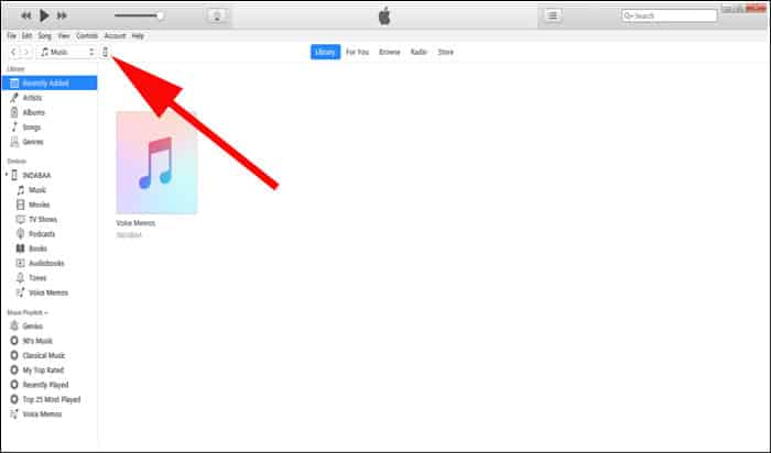 Launch iTunes on your PC
