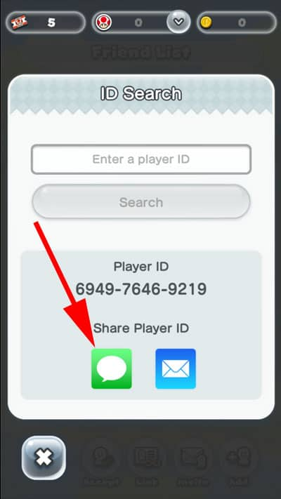 Share Player ID Through Message
