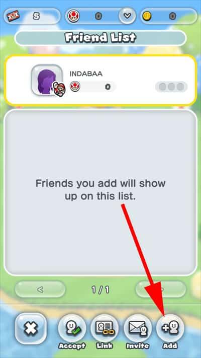 Tap on Add Friends