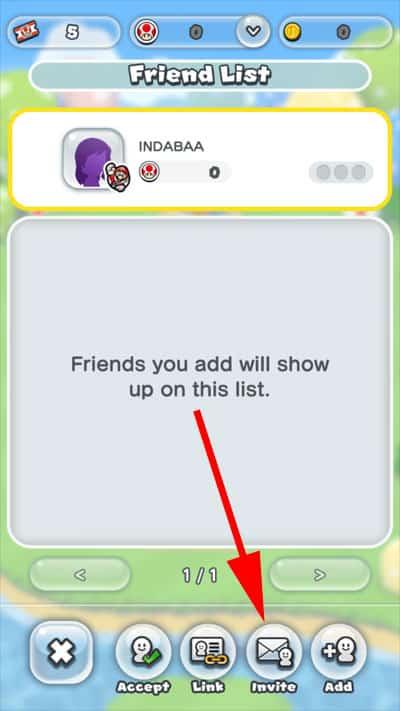 Tap on Invite Button