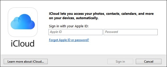 enter your Apple ID and passwords to Sign In