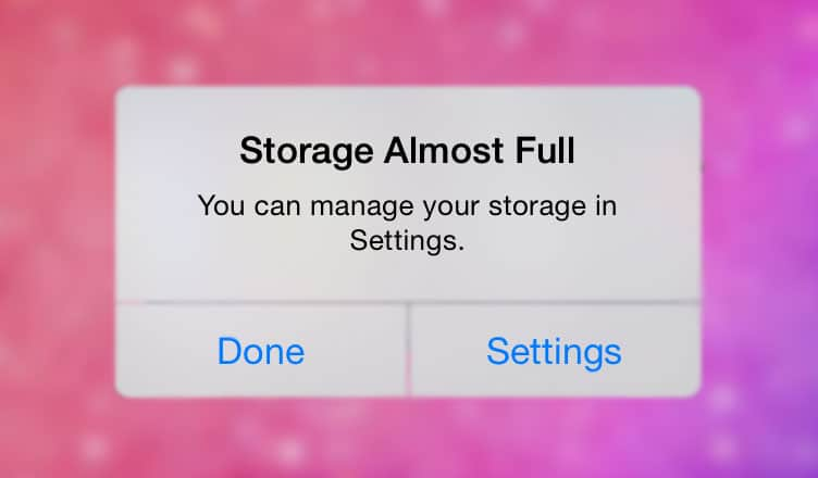How to Fix iPhone Storage Almost Full Issue