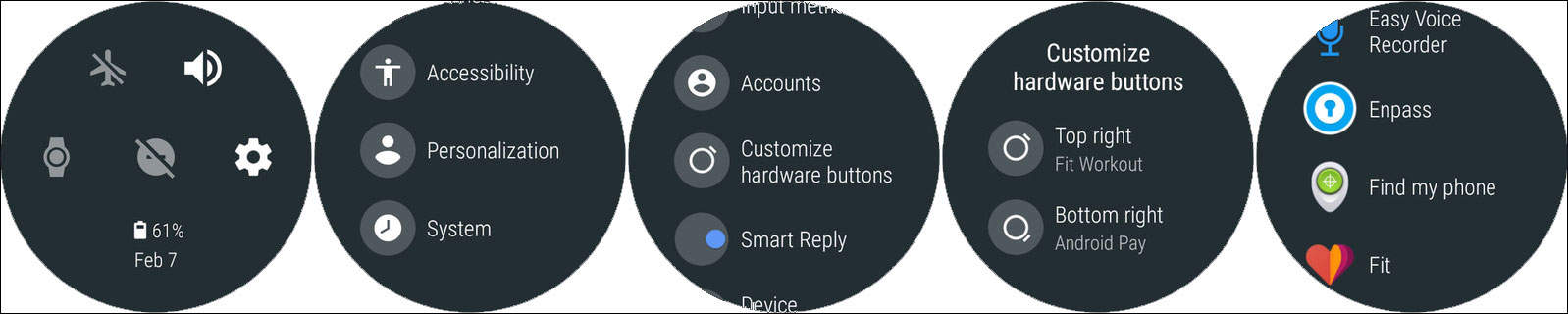 Configure or Customize Shortcut Buttons on Android Wear 2.0