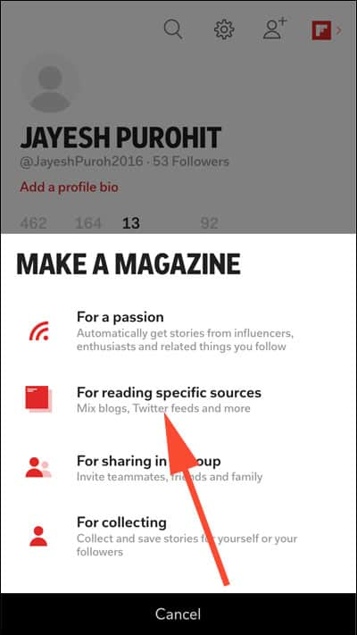 Create a Magazine in Flipboard