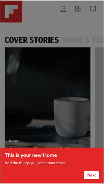 Flipboard New home Page