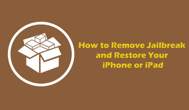How to Remove iOS 10 Yalu Jailbreak and Restore Your iPhone or iPad