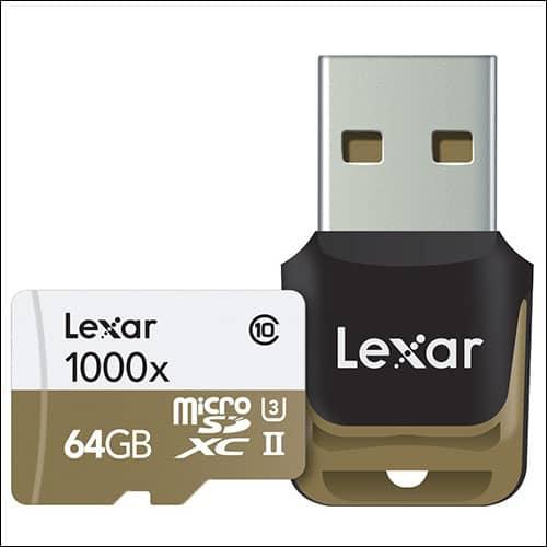 Lexar Professional 1000x microSD Card