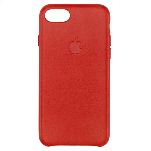 Apple Leather Red Case for iPhone 7
