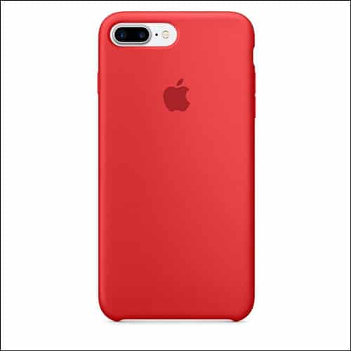 Apple Silicone Red Case for iPhone 7 Plus