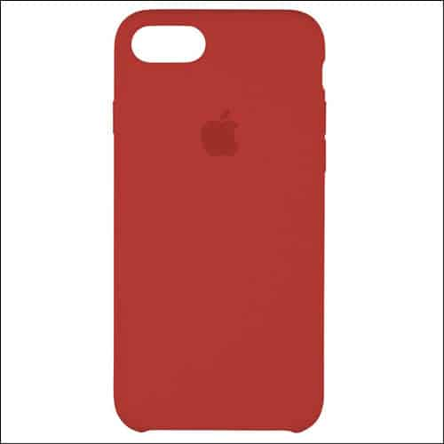 Apple Silicone Red Case for iPhone 7