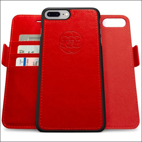Dreem iPhone 7 PLUS Red Wallet Case