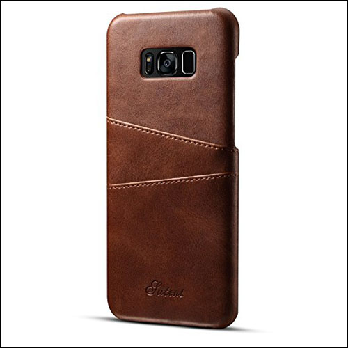 FlyHawk Slim Leather Back Case for Samsung Galaxy S8