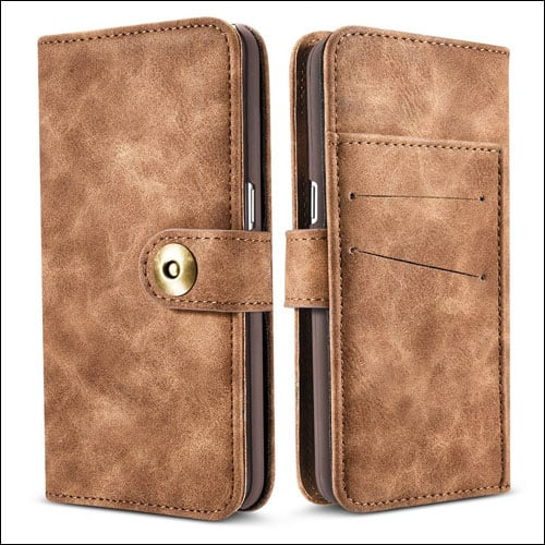 JGOO Wallet Leather Galaxy S8 Plus Case