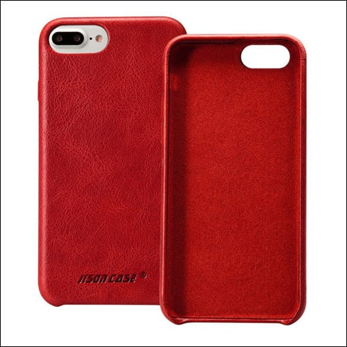 Jisoncase iPhone 7 Plus Red Case