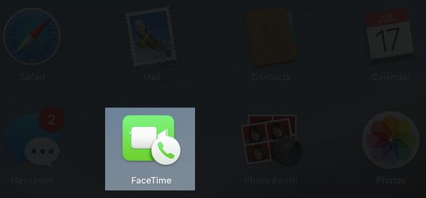 Launch FaceTime on Mac