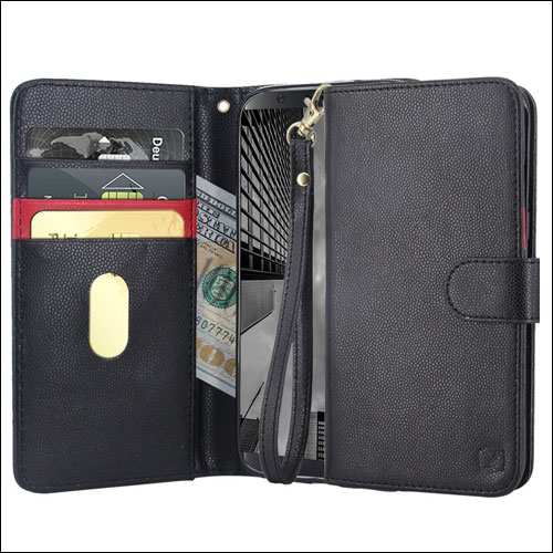 MP-Mall Leather Folio Wallet Case For Samsung Galaxy S8