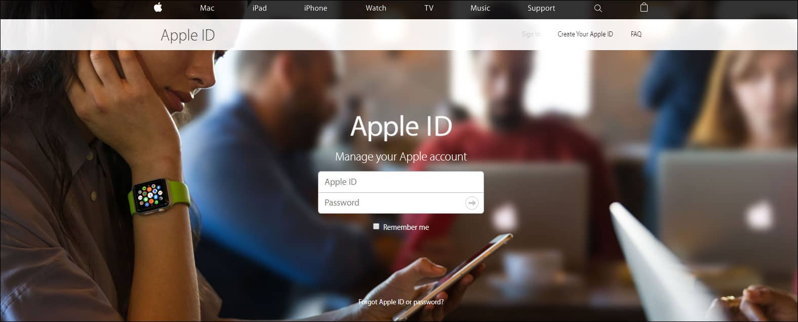 Open appleid type in Apple ID and Password