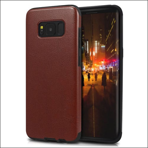 TENDLIN Leather Case for Galaxy S8