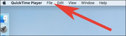click on File in the Menu bar in Mac