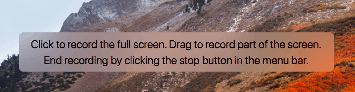click the screen to record entire screen or click and drag over the FaceTime window to record only FaceTime