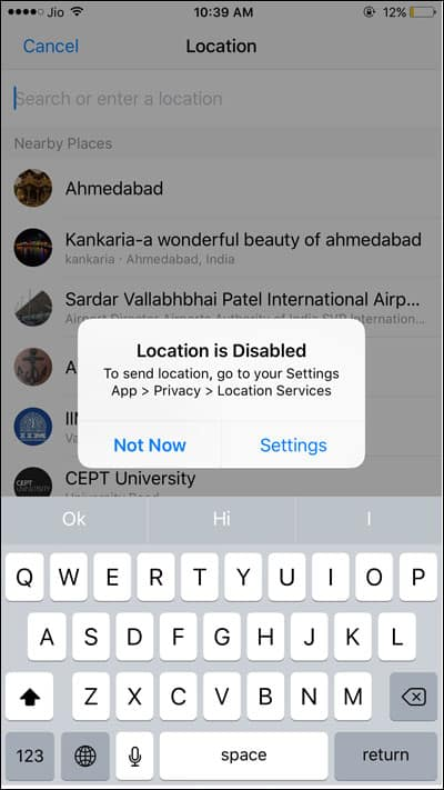 Disable Location feature and set event location
