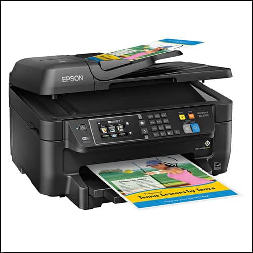 Epson WF-2760 All-in-One Wireless Color Printer with Scanner