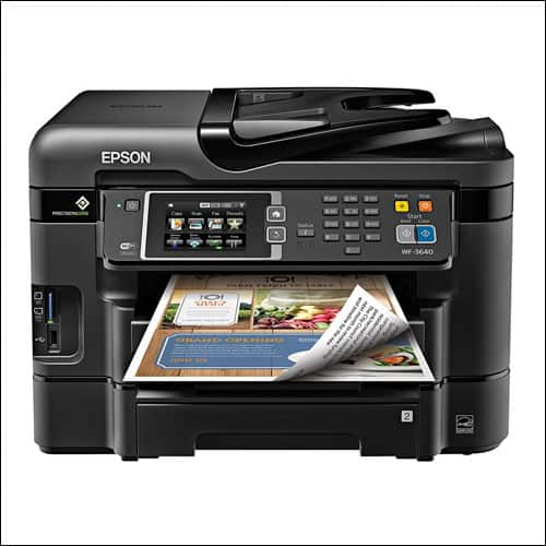 Epson WorkForce WF-3640 Wireless Color All-in-One Inkjet Printer with Scanner