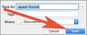 Click on Save to Save Vcard File of Selected Contact