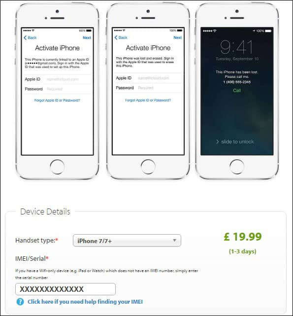 Enter IMEI Number of your Phone