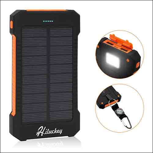 Hiluckey solar phone charger