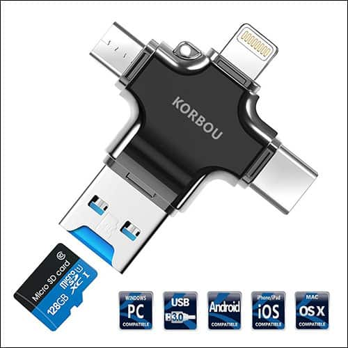 Korbou Flash Drive for iPhone and iPad
