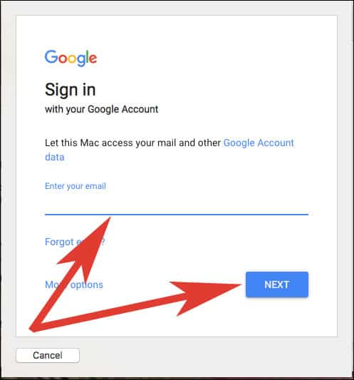 Enter Email ID and Click On Next