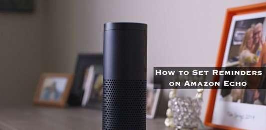 How to Set Reminder on Amazon Echo